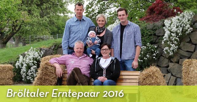Bröltaler Erntepaar 2016: Uta und Klaus Leymann aus Oberelben