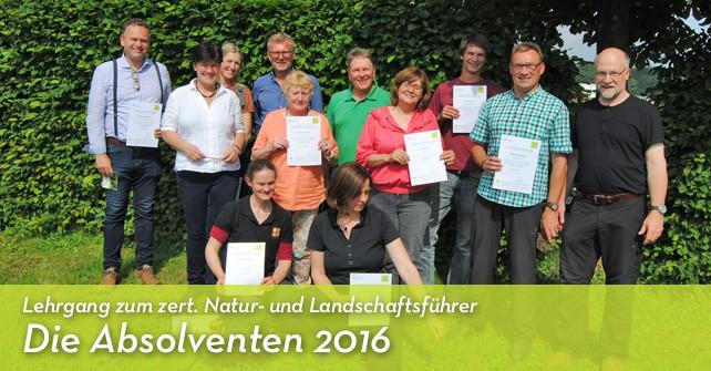 bergisch4 gratuliert den neuen zertifizierten Natur- und Landschaftsführern/innen zum Abschluss